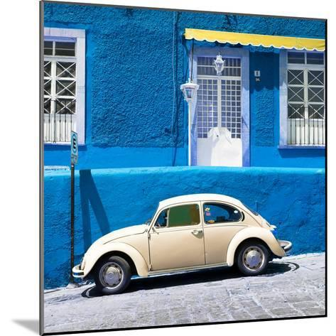 ¡Viva Mexico! Square Collection - VW Beetle Car and Blue Wall-Philippe Hugonnard-Mounted Photographic Print