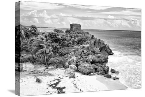 ?Viva Mexico! B&W Collection - Tulum Riviera Maya VI-Philippe Hugonnard-Stretched Canvas Print