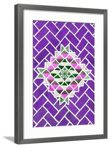 ?Viva Mexico! Collection - Purple Mosaics-Philippe Hugonnard-Framed Art Print