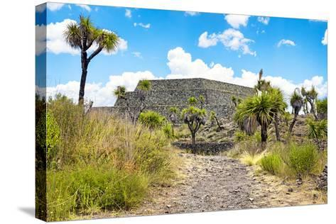 ¡Viva Mexico! Collection - Archaeological Site - Cantona-Philippe Hugonnard-Stretched Canvas Print