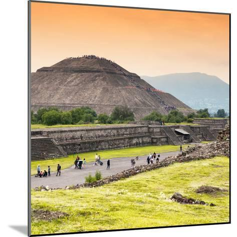 ¡Viva Mexico! Square Collection - Teotihuacan Pyramids at Sunset II-Philippe Hugonnard-Mounted Photographic Print