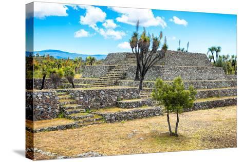 ?Viva Mexico! Collection - Pyramid of Cantona - Puebla-Philippe Hugonnard-Stretched Canvas Print