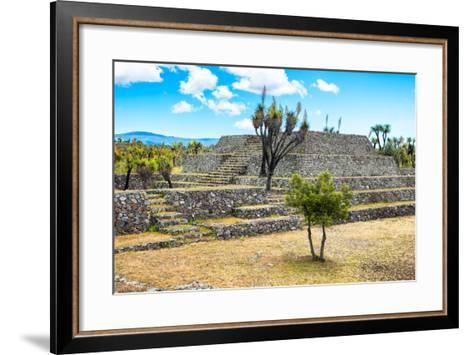 ?Viva Mexico! Collection - Pyramid of Cantona - Puebla-Philippe Hugonnard-Framed Art Print