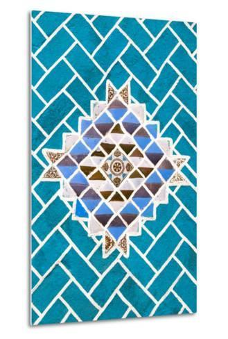 ?Viva Mexico! Collection - Turquoise Mosaics-Philippe Hugonnard-Metal Print