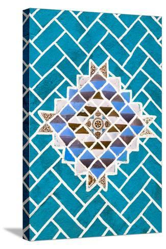 ?Viva Mexico! Collection - Turquoise Mosaics-Philippe Hugonnard-Stretched Canvas Print