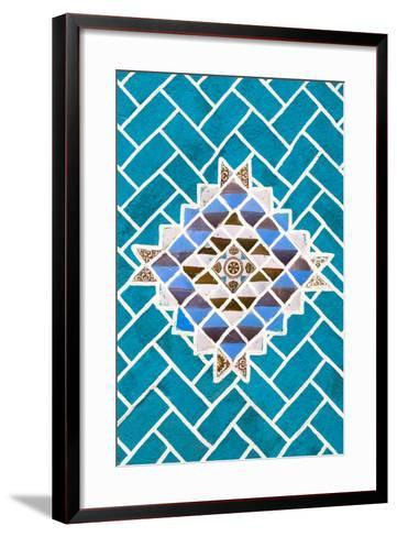 ?Viva Mexico! Collection - Turquoise Mosaics-Philippe Hugonnard-Framed Art Print
