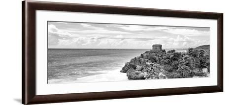 ¡Viva Mexico! Panoramic Collection - Caribbean Coastline in Tulum X-Philippe Hugonnard-Framed Art Print