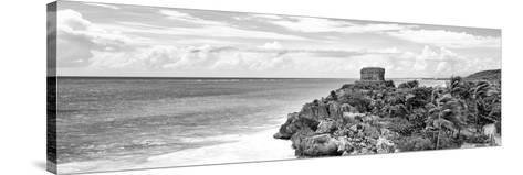 ¡Viva Mexico! Panoramic Collection - Caribbean Coastline in Tulum X-Philippe Hugonnard-Stretched Canvas Print