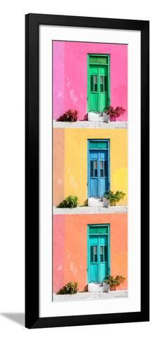 ¡Viva Mexico! Panoramic Collection - Tree Colorful Doors XII-Philippe Hugonnard-Framed Art Print