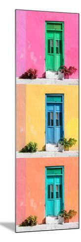 ¡Viva Mexico! Panoramic Collection - Tree Colorful Doors XII-Philippe Hugonnard-Mounted Photographic Print