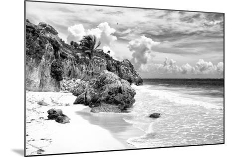 ¡Viva Mexico! B&W Collection - Caribbean Beach II-Philippe Hugonnard-Mounted Photographic Print