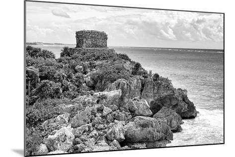 ?Viva Mexico! B&W Collection - Tulum Mayan Archaeological Site-Philippe Hugonnard-Mounted Photographic Print