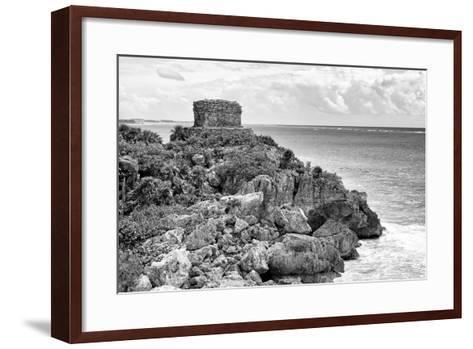 ?Viva Mexico! B&W Collection - Tulum Mayan Archaeological Site-Philippe Hugonnard-Framed Art Print