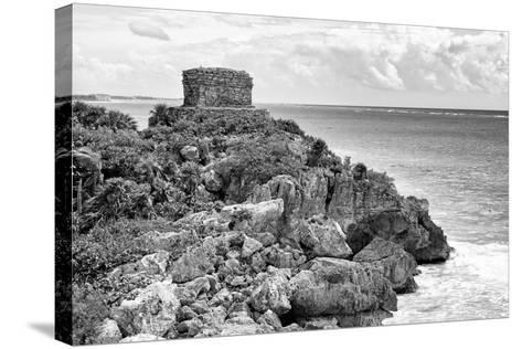 ?Viva Mexico! B&W Collection - Tulum Mayan Archaeological Site-Philippe Hugonnard-Stretched Canvas Print