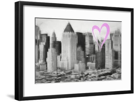 Luv Collection - New York City - Manhattan View-Philippe Hugonnard-Framed Art Print