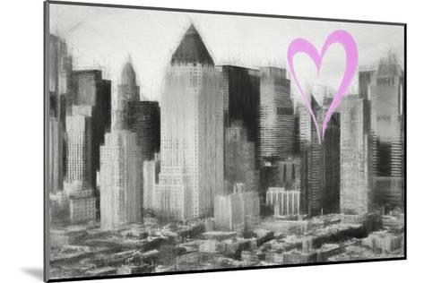 Luv Collection - New York City - Manhattan View-Philippe Hugonnard-Mounted Giclee Print