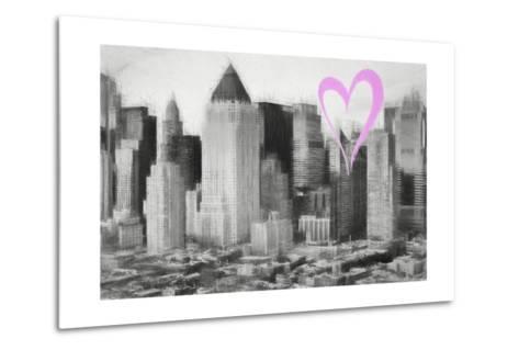 Luv Collection - New York City - Manhattan View-Philippe Hugonnard-Metal Print