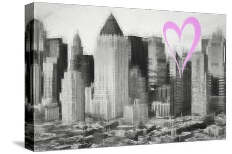 Luv Collection - New York City - Manhattan View-Philippe Hugonnard-Stretched Canvas Print