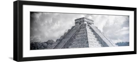 ¡Viva Mexico! Panoramic Collection - El Castillo Pyramid in Chichen Itza XIV-Philippe Hugonnard-Framed Art Print