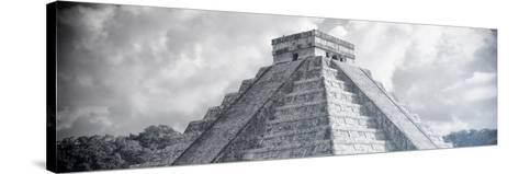 ¡Viva Mexico! Panoramic Collection - El Castillo Pyramid in Chichen Itza XIV-Philippe Hugonnard-Stretched Canvas Print