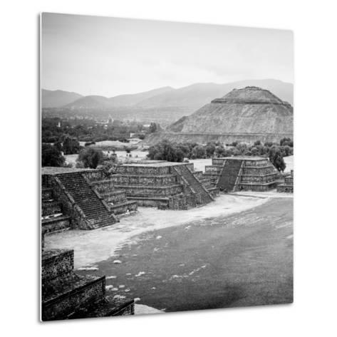 ¡Viva Mexico! Square Collection - Teotihuacan Pyramids V-Philippe Hugonnard-Metal Print