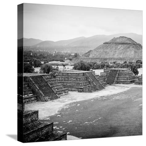 ¡Viva Mexico! Square Collection - Teotihuacan Pyramids V-Philippe Hugonnard-Stretched Canvas Print