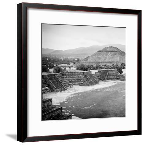 ¡Viva Mexico! Square Collection - Teotihuacan Pyramids V-Philippe Hugonnard-Framed Art Print