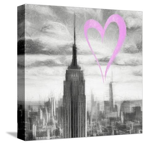 Luv Collection - New York City - Manhattan Skyscrapers II-Philippe Hugonnard-Stretched Canvas Print