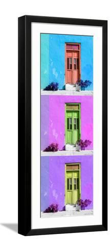 ¡Viva Mexico! Panoramic Collection - Tree Colorful Doors XIV-Philippe Hugonnard-Framed Art Print