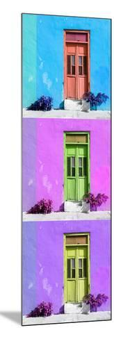 ¡Viva Mexico! Panoramic Collection - Tree Colorful Doors XIV-Philippe Hugonnard-Mounted Photographic Print