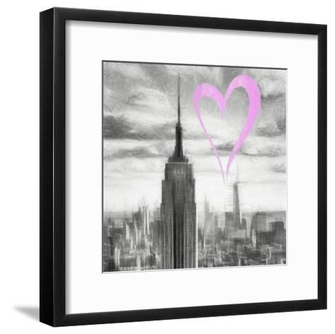 Luv Collection - New York City - Manhattan Skyscrapers II-Philippe Hugonnard-Framed Art Print