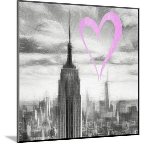 Luv Collection - New York City - Manhattan Skyscrapers II-Philippe Hugonnard-Mounted Giclee Print