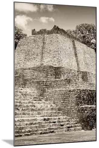 ?Viva Mexico! B&W Collection - Maya Archaeological Site IV - Edzna-Philippe Hugonnard-Mounted Photographic Print
