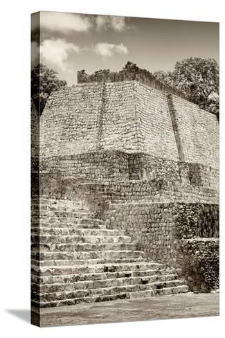 ?Viva Mexico! B&W Collection - Maya Archaeological Site IV - Edzna-Philippe Hugonnard-Stretched Canvas Print
