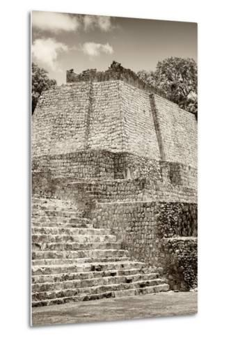 ?Viva Mexico! B&W Collection - Maya Archaeological Site IV - Edzna-Philippe Hugonnard-Metal Print