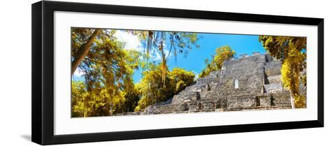 ¡Viva Mexico! Panoramic Collection - Pyramyd of the ancient Mayan City III - Calakmul-Philippe Hugonnard-Framed Art Print