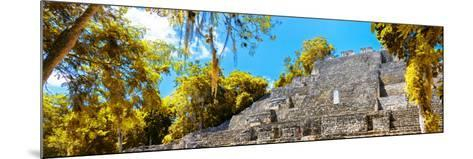 ¡Viva Mexico! Panoramic Collection - Pyramyd of the ancient Mayan City III - Calakmul-Philippe Hugonnard-Mounted Photographic Print