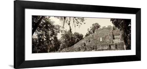 ¡Viva Mexico! Panoramic Collection - Pyramyd of the ancient Mayan City - Calakmul-Philippe Hugonnard-Framed Art Print