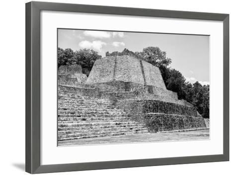 ?Viva Mexico! B&W Collection - Maya Archaeological Site III - Edzna-Philippe Hugonnard-Framed Art Print