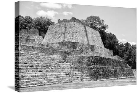 ?Viva Mexico! B&W Collection - Maya Archaeological Site III - Edzna-Philippe Hugonnard-Stretched Canvas Print
