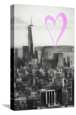 Luv Collection - New York City - Downtown Manhattan-Philippe Hugonnard-Stretched Canvas Print
