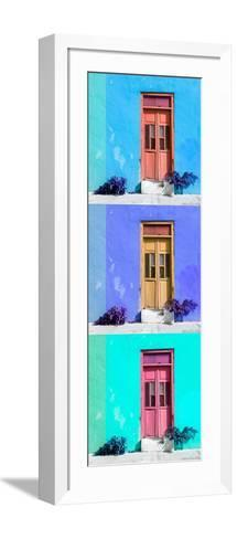¡Viva Mexico! Panoramic Collection - Tree Colorful Doors XIII-Philippe Hugonnard-Framed Art Print