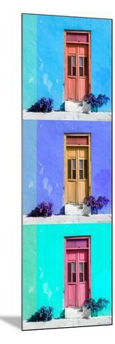 ¡Viva Mexico! Panoramic Collection - Tree Colorful Doors XIII-Philippe Hugonnard-Mounted Photographic Print