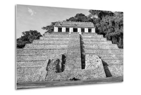 ?Viva Mexico! B&W Collection - Mayan Temple of Inscriptions V - Palenque-Philippe Hugonnard-Metal Print
