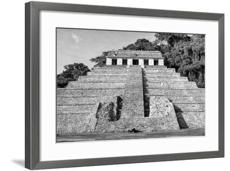 ?Viva Mexico! B&W Collection - Mayan Temple of Inscriptions V - Palenque-Philippe Hugonnard-Framed Art Print