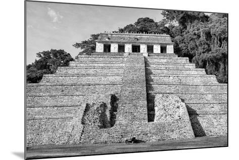 ?Viva Mexico! B&W Collection - Mayan Temple of Inscriptions V - Palenque-Philippe Hugonnard-Mounted Photographic Print
