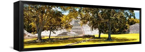 ¡Viva Mexico! Panoramic Collection - Maya Archaeological Site - Edzna XI-Philippe Hugonnard-Framed Canvas Print