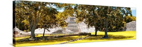 ¡Viva Mexico! Panoramic Collection - Maya Archaeological Site - Edzna XI-Philippe Hugonnard-Stretched Canvas Print