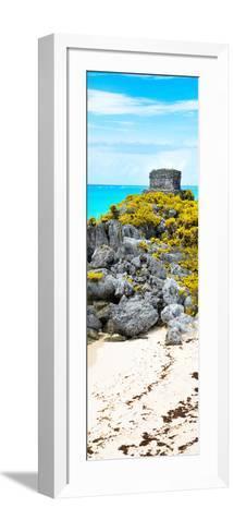 ¡Viva Mexico! Panoramic Collection - Tulum Ruins along Caribbean Coastline III-Philippe Hugonnard-Framed Art Print