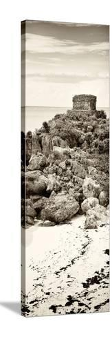 ¡Viva Mexico! Panoramic Collection - Tulum Ruins along Caribbean Coastline II-Philippe Hugonnard-Stretched Canvas Print